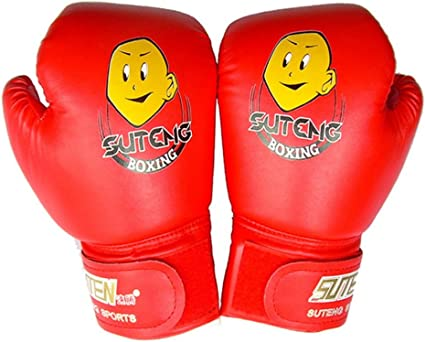 Boxing Glove for Children Training Competition,Kids PU Leather Boxing Glove