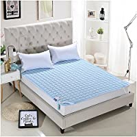 AMADA Quilted Mattress Pad Twin Size Cover with Microfiber Mattress Topper,Hypoallergenic, Antibacterial, Breathable,Ultra Soft Mattress Protector(White)