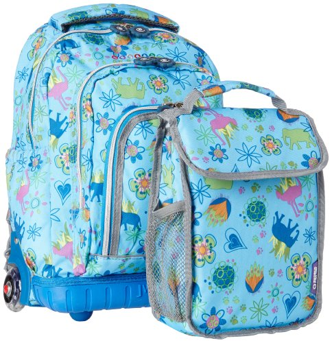 J World New York Lollipop Kids' Wheeled Backpack / Lunch Bag Combo