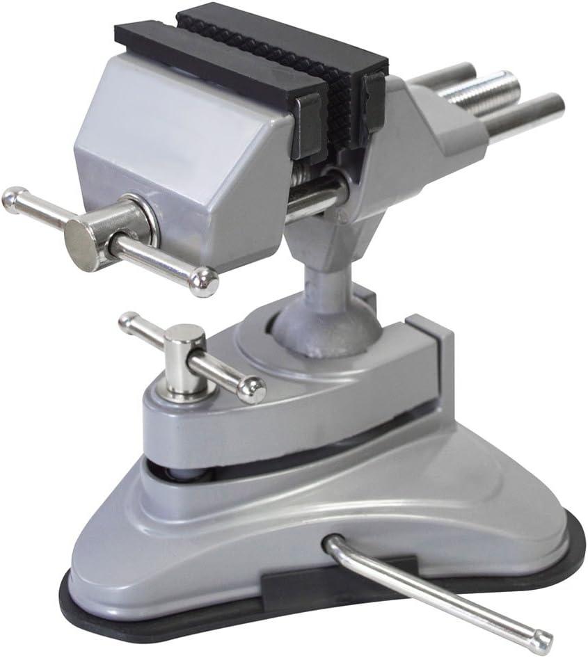 spares2go Multi Winkel Schwenkkopf Tisch Top Klemm-Schraubstock mit Saugfu/ß 70/mm Kiefer
