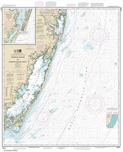 - Paradise Cay Publications NOAA Chart 12211: Fenwick Island to Chincoteague Inlet; Ocean City Inlet 41.9 x 34.1 (TRADITIONAL PAPER)