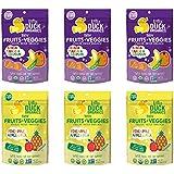 Little Duck Organics Tiny Fruits + Veggie, Variety Pack, 6 Count