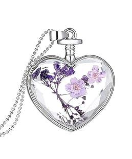 Poondkoo Mode simple lisse Petite Femme Cœur Cristal Rose Gold Pated Pendentif Necklacejewelry Excellent Cadeau