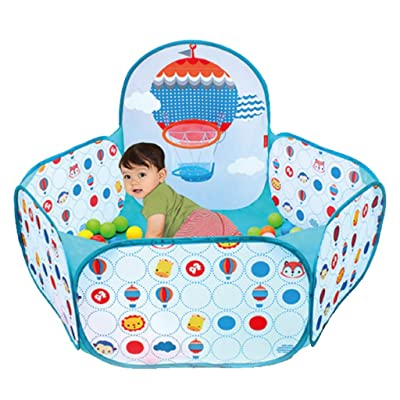 LDAOS Safety Protection Baby Toddler Ball Pool Pit Folding Hexagon Polka Dot GG-45I1 Play House Colorful Portable Indoor: Home & Kitchen