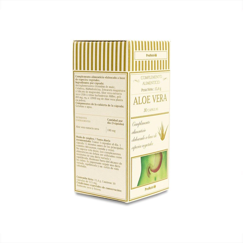 PRONUTRI - PRONUTRI Aloe Vera 30 cápsulas: Amazon.es: Salud y cuidado personal