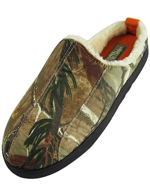 3cb4f732c1 Amazon.com | Northern Trail - Mens Camouflage Slip On Slipper, Olive ...