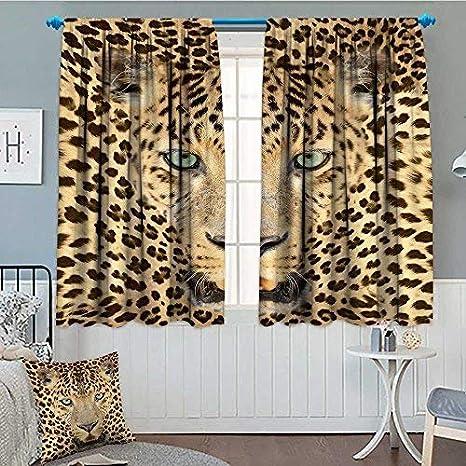 3D Leopard Window Curtain Wild Animal Curtains Drapes Decorative Home Decor