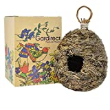 Gardirect Wild Birdhouse, Pine Leaf Natural Bird Roosting Pocket, 5'' x 5'' x 7.5''