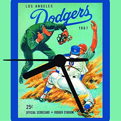 Los Angeles Dodgers, Retro Dodger Clock, 2 Sizes, Wall or Desk, Baseball Clock, Dodger Fan Gift, With Stand, Free Shipping ()