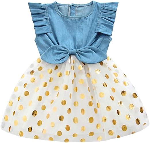 UK Stock Toddler Baby Girls Kids Casual Party Princess Dress Sundress Clothes