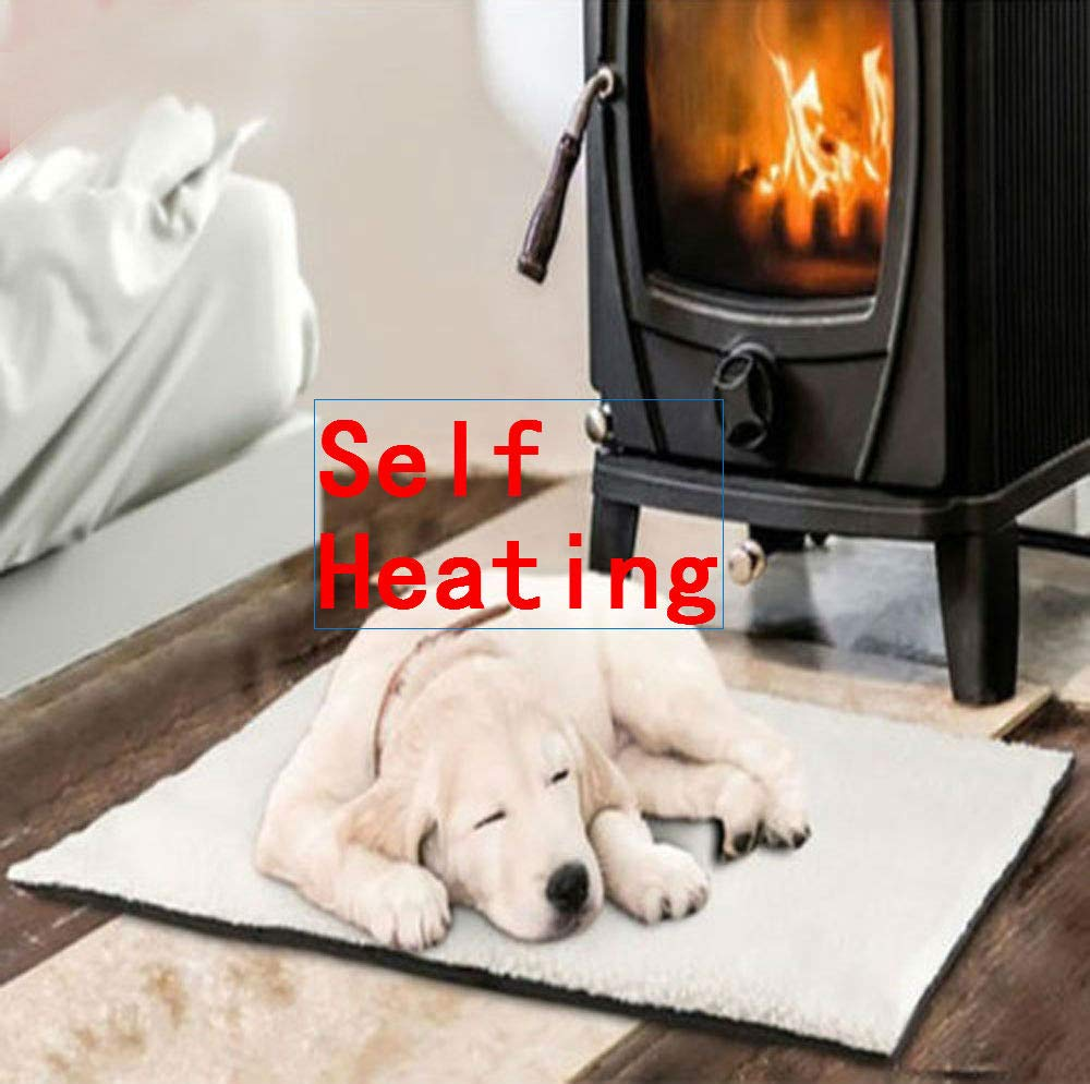 callm Self Heating Dog Cat Pet Bed Thermal Washable No Electric Blanket Required (White, 64cm x 46cm) by callm (Image #2)
