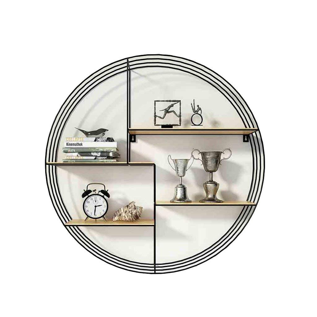 YCT 壁掛け棚壁掛けリビングルームの寝室シンプルな装飾的な棚棚クリエイティブアートパーティション錬鉄製の棚なめらかなフレーム (サイズ : 80*80CM) B07SSNMT4X  80*80CM