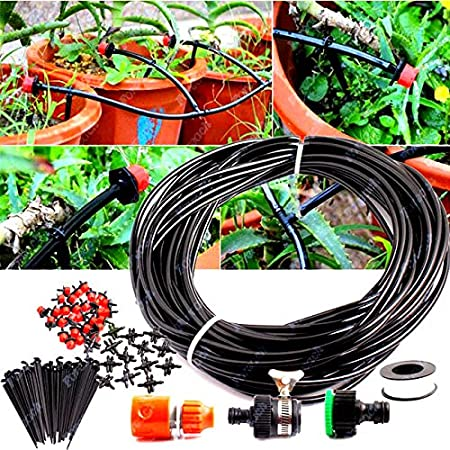 DIY Micro Drip Irrigation System Self Watering Garden Hose Sprinkler Nozzle Kit