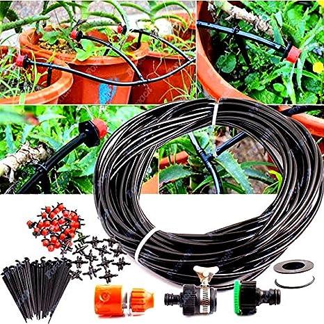 Amazon.com : 25m Micro Drip Irrigation System Plant Self Watering ...