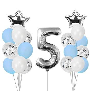 QUQUET Soy Cinco Banner de Papel Kraft 5 años Cumpleaños ...