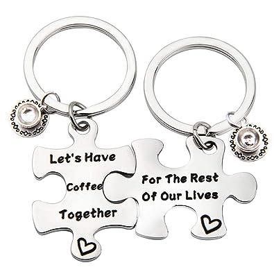 Amazon.com: Llavero hecho a mano para pareja, regalo de ...