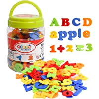 USATDD Magnetic Letters Numbers Alphabet Fridge Refrigerator Magnets Colorful Class ABC 123 Educational Toy Set…
