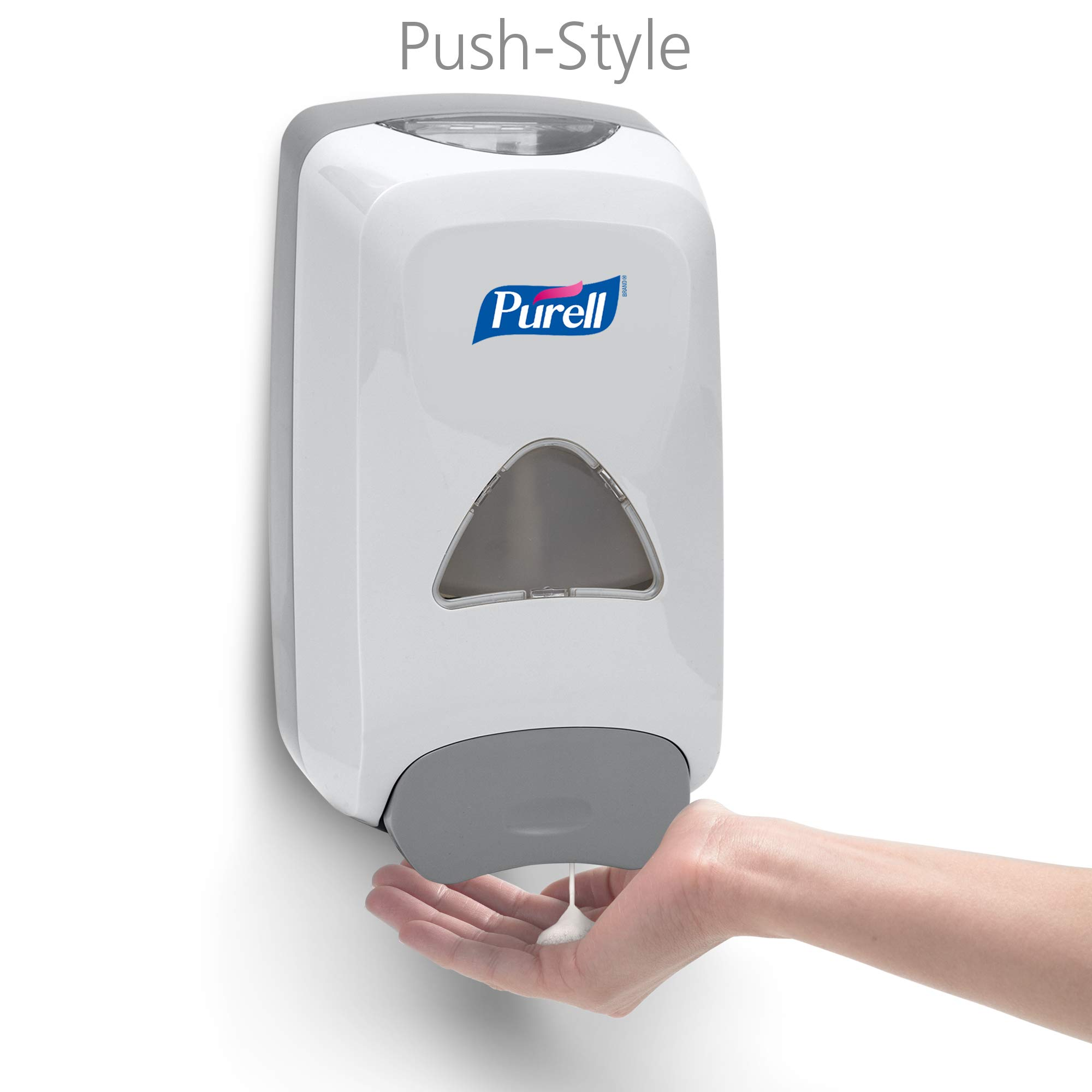 PURELL Advanced Hand Sanitizer Foam FMX-12 Starter Kit, 1 - 1200 mL Advanced Hand Sanitizer Foam Refill + 1 - PURELL FMX-12 Dove Grey Push-Style Dispenser – 5192-D1 by Purell (Image #3)