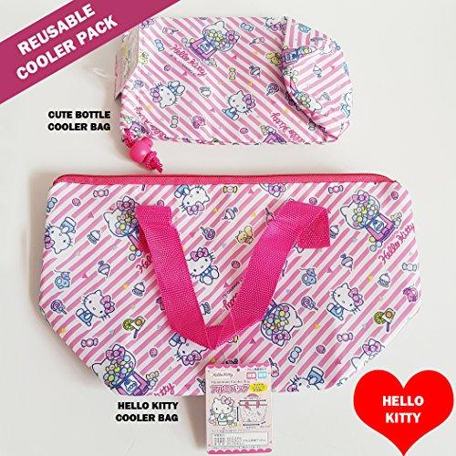 Sanrio Hello Kitty Baby Bottle - Sanrio Japan reusable food bag warmer series - Hello Kitty Small Lunch Bag and Portable Bottle Warmer