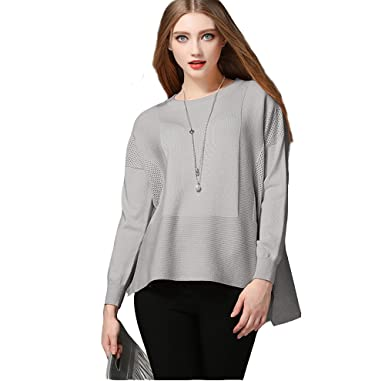 381d943d05b6 XYDQ 2017 Fall Couture Lantern Sleeve T-Shirt Loose Knit Sweater ...