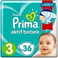Prima Aktif Bebek Bezi, 3 Beden, Standart Paket, 36 Adet