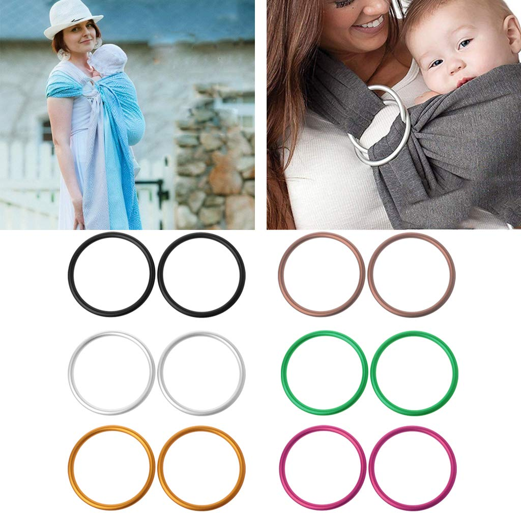 Kimnny Aluminum Ring 2 Pieces//Set Baby Carriers Aluminium Baby Sling Rings for Baby Carriers /& Slings Baby Carriers Accessories Black
