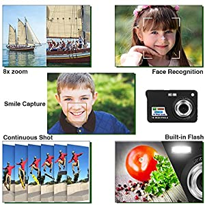HD Mini Digital Camera with 2.7 Inch TFT LCD Display,Digital Point and Shoot Camera Video Camera--Christmas Gift from Yasolote