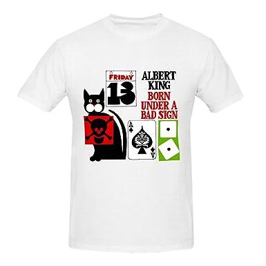 1c5eefb8b Amazon.com: Samaer Albert King Born Under A Bad Sign Owl Tee Shirt ...