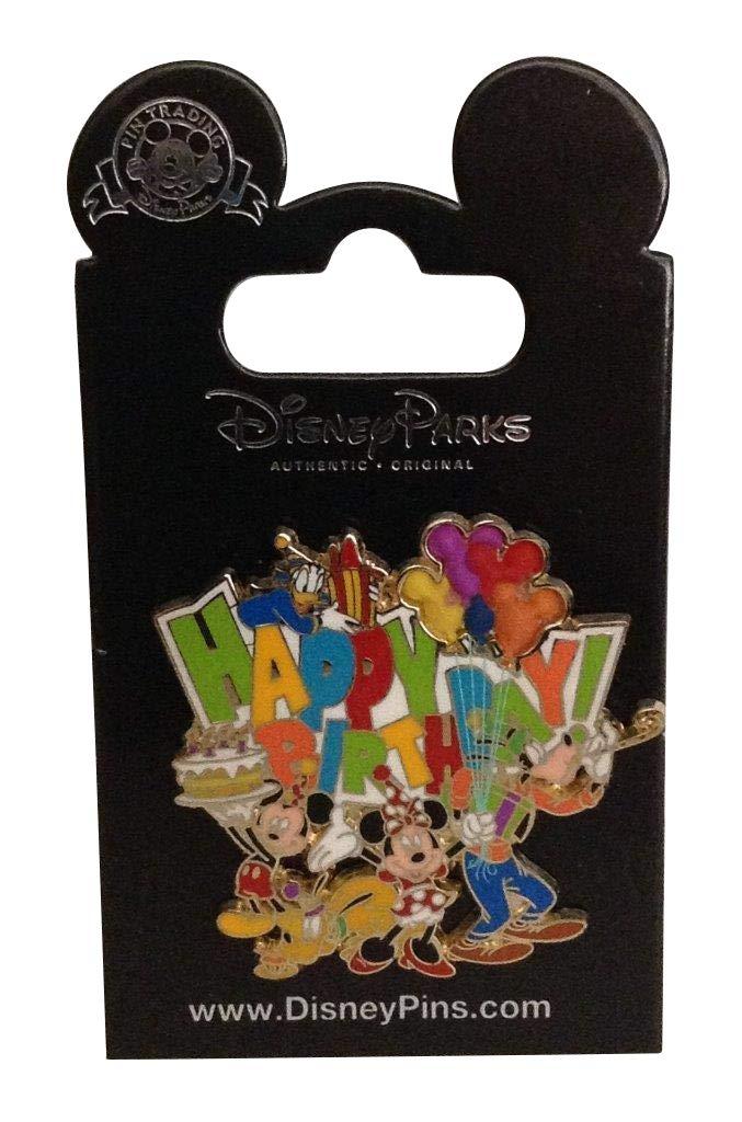 Disney Pin/DLR Happy Birthday FAB5 Free D balloons Pin