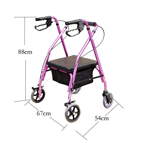 Amazon.com: EGCLJ Elderly Walker - Adjustable Rolling Walker ...