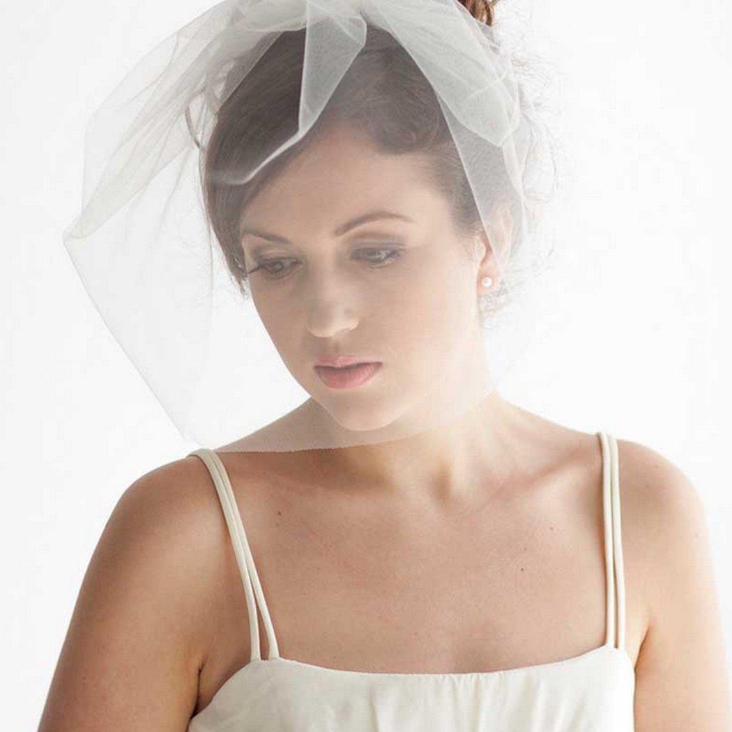 Jovono nuptiale de voile de cheveux voiles de voile de voile de mariage avec peigne pour les mari/ées