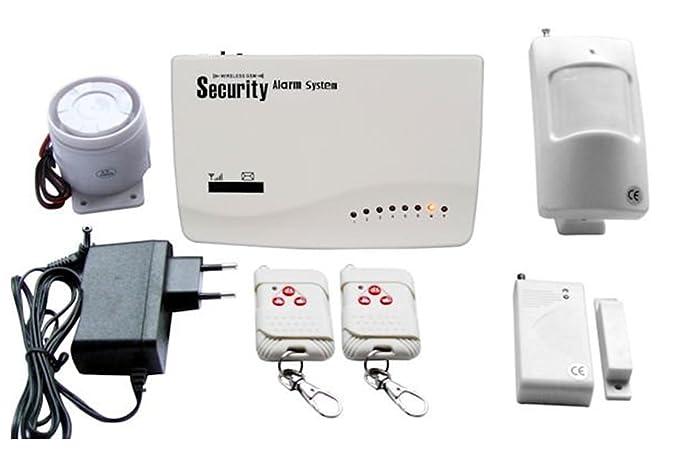 Kit Alarma Antirrobo Casa Oficina Centralina Wireless GSM ...