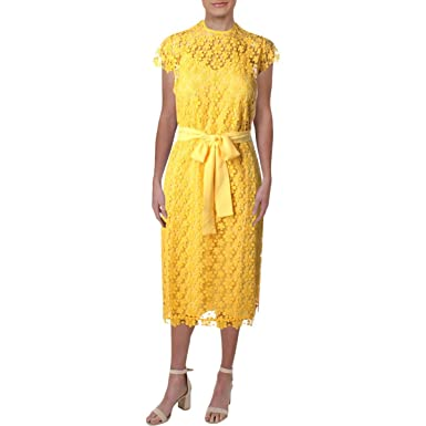 Juicy Couture Black Label Womens Lydia Lace Knee-Length Party Dress Yellow  XS. Roll over image to zoom in dbaff5ac1
