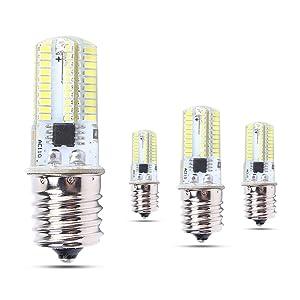 MD Lighting 5W E17 LED Corn Light Bulbs for Microwave Oven Appliance (4 Pack)- 80 LEDs 3014 SMD 500 Lumen Daylight White 6000k LED Bulb 40 Watt Incandescent Bulb Equivalent, AC 110V