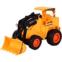 ANVIT Toy World Remote Control Battery Operated JCB Plastic Crane Truck Toy for Kids (Yellow, 1 Size)
