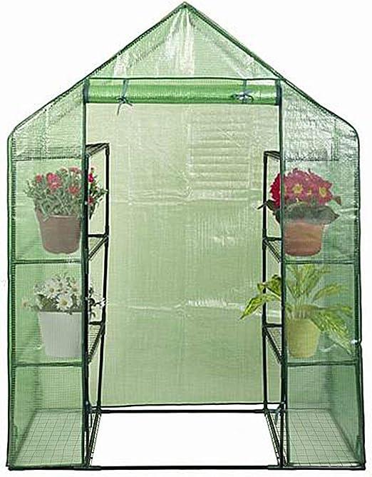 COSTWAY Invernadero para Jardín con Cubierta 143x73x195cm para Balcón, Patio Tomate Planta Flor Color Verde: Amazon.es: Jardín