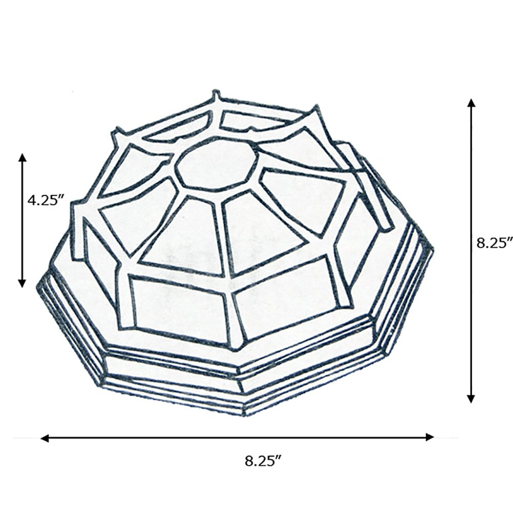 9 Inch eTopLighting Oil Rubbed Finish Octagonal Exterior Outdoor Wall Ceiling Lantern Light with Frosted Glass APL1153