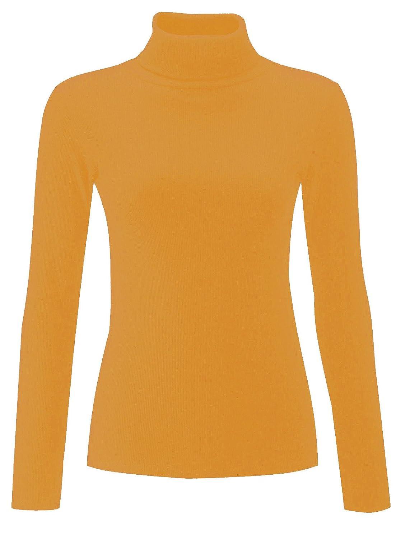 fdfc8f64e6792 Re Tech UK Pull à col roulé - pour Femme - Coton - côtelé/Manches Longues -  uni: Amazon.fr: Vêtements et accessoires