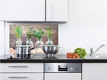 GRAZDesign 200054_100x50_SP Küchenrückwand Glas-Bild Spritzschutz ...