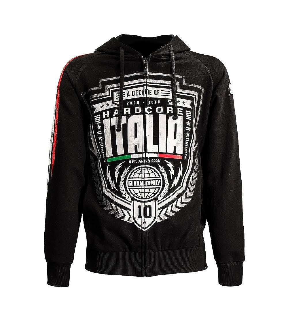 Limited 10Y Edition Hardcore Italia Felpa Zip Cappuccio