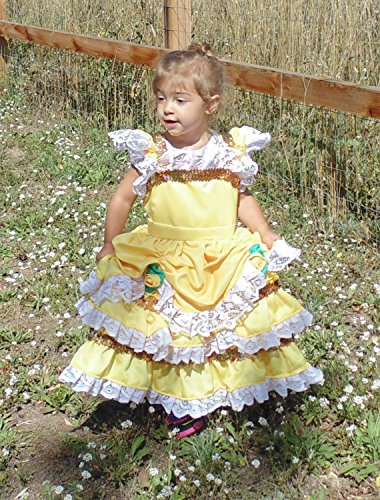 Girls 5-6 Belle Beauty dress up apron by Fru Fru and Feathers Costumes & Gifts