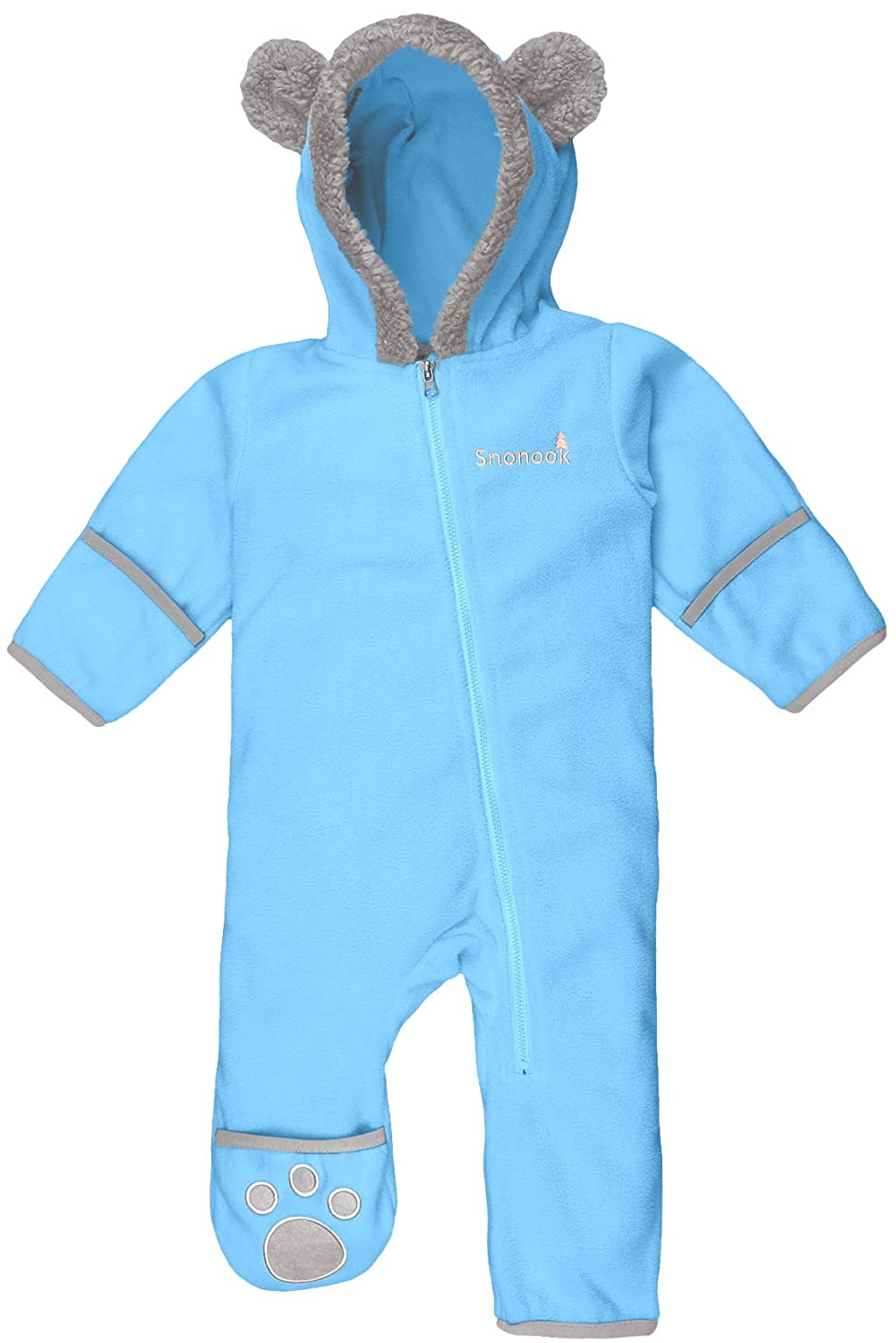 Snonook Fleece Baby Bunting Pram w//Attached Hood and Fold-Over Mitten /& Bootie Cuffs