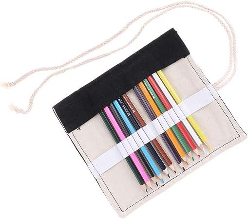 Estuche Para Lápices De Lona De 1 Pieza Lápiz De Colores Lápiz De Colores Envoltorio Para Rollos - 12_Slots: Amazon.es: Hogar