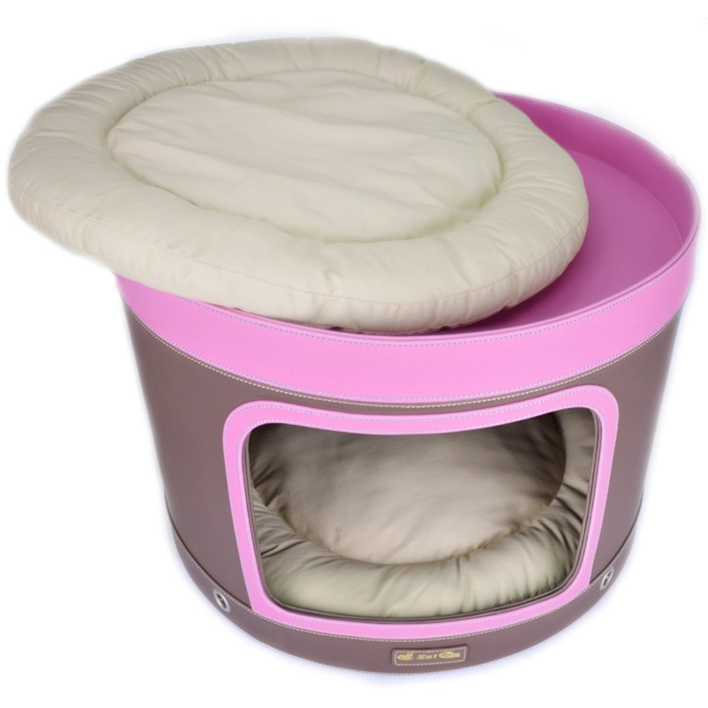 Wangs bed Circle color double pet Kennel small dog-B 46x46cm(18x18inch)