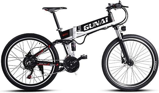 GUNAI Bicicleta Electrica 48V 500W Bicicleta de Montaña 21 Velocidades 26 Pulgadas con Batería de Litio Extraíble de Nueva Energía: Amazon.es: Deportes y aire libre
