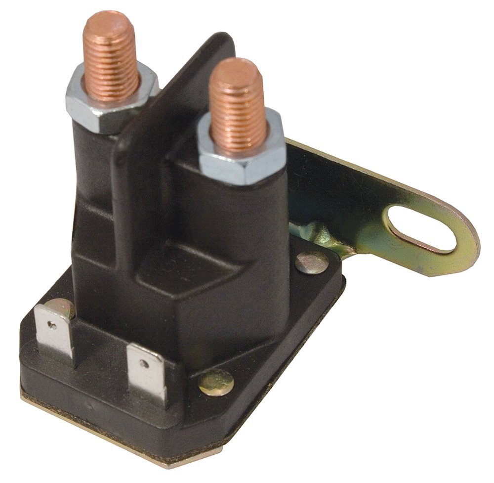 "Stens 435-036 Starter Solenoid, Replaces John Deere: Am130365, Am132990, Am133094, Am138497, 4 Pole Style, Eyelet Size: 5/16""-24"
