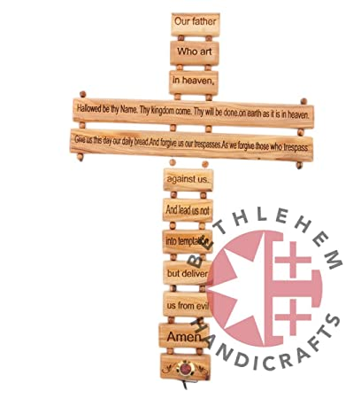 Amazon Com Bethlehem Handicrafts 16 7 Olive Wood Cross With The