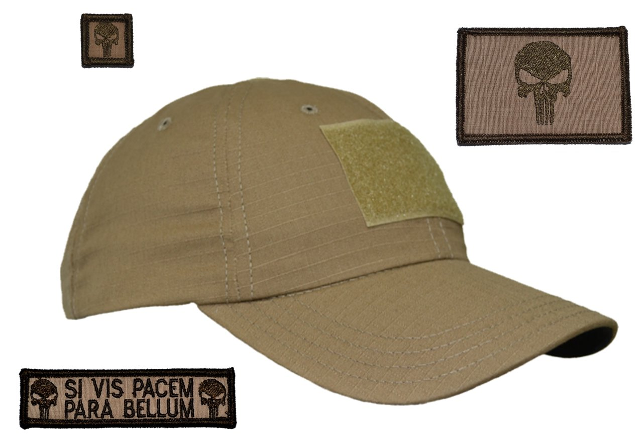 Amazon.com   Coyote Brown USA Made Gen 2 Tactical Operator Cap with  Punisher