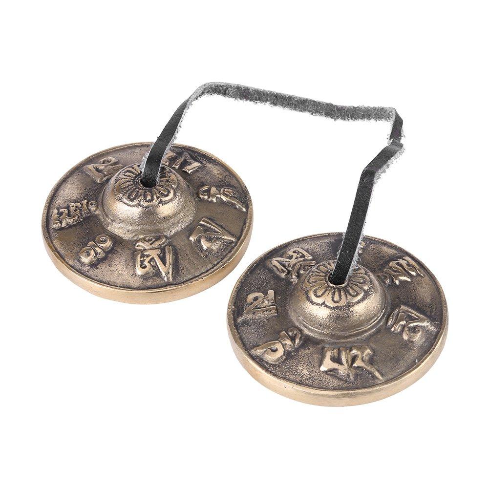 Tibetan Tingsha Cymbals Buddhism Handmade Brass Finger Cymbals Bells Religious Buddhist Musical Apparatus