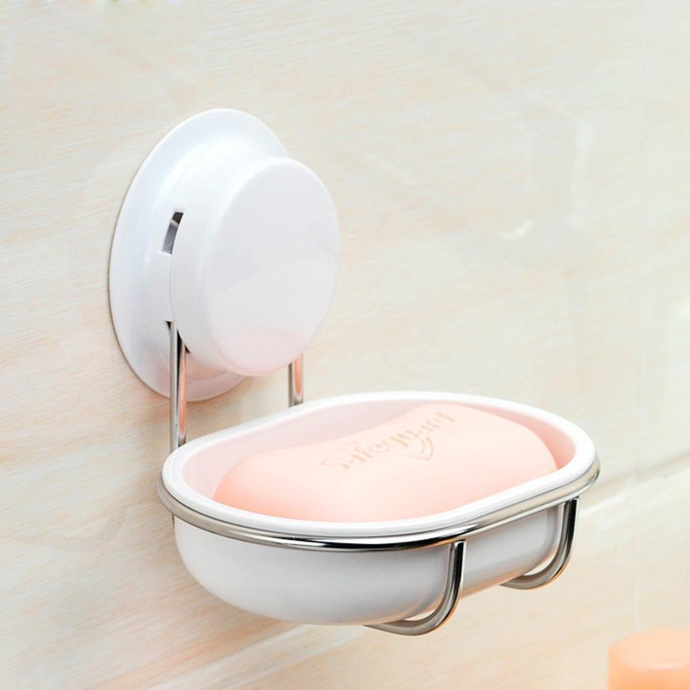 KHSKX Caja de jabón de acero inoxidable taza de la succión ...